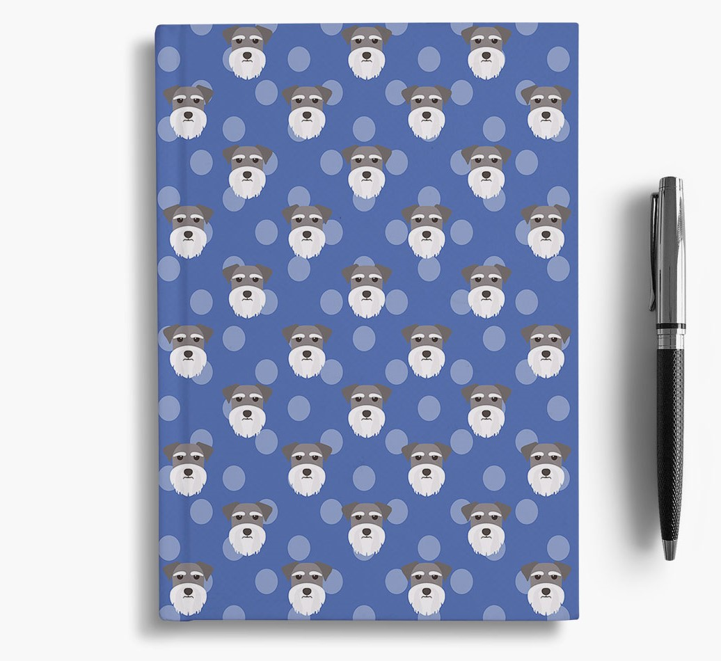 Miniature Schnauzer Icon Pattern Notebook