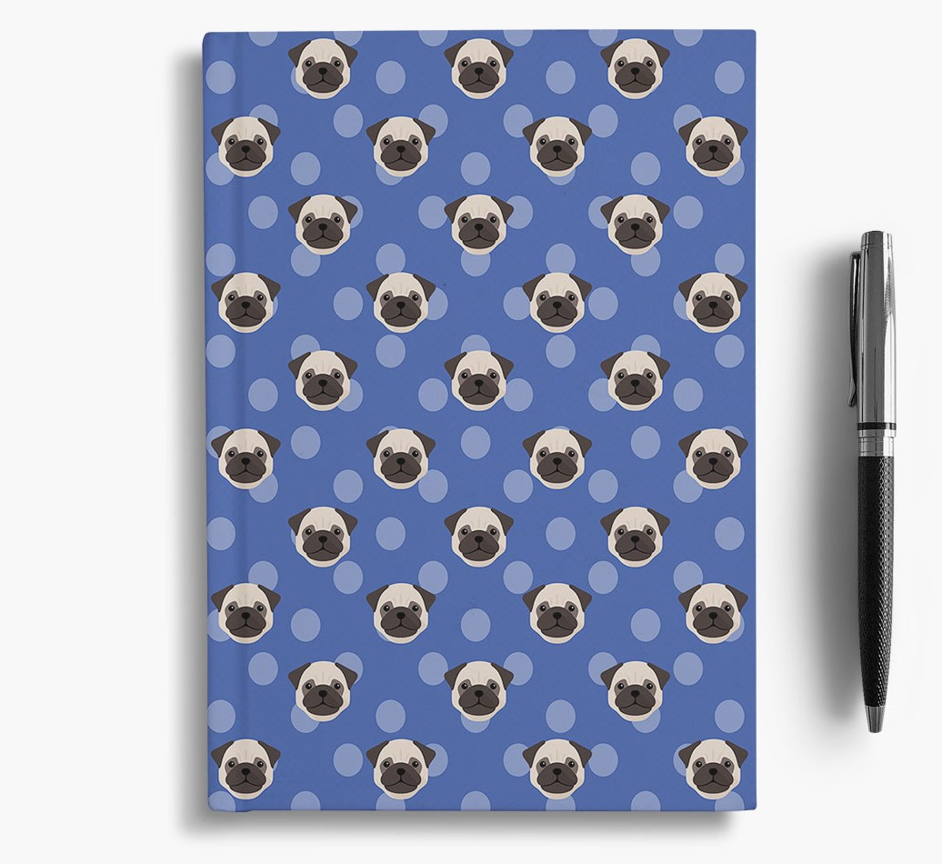 Pug Icon Pattern Notebook