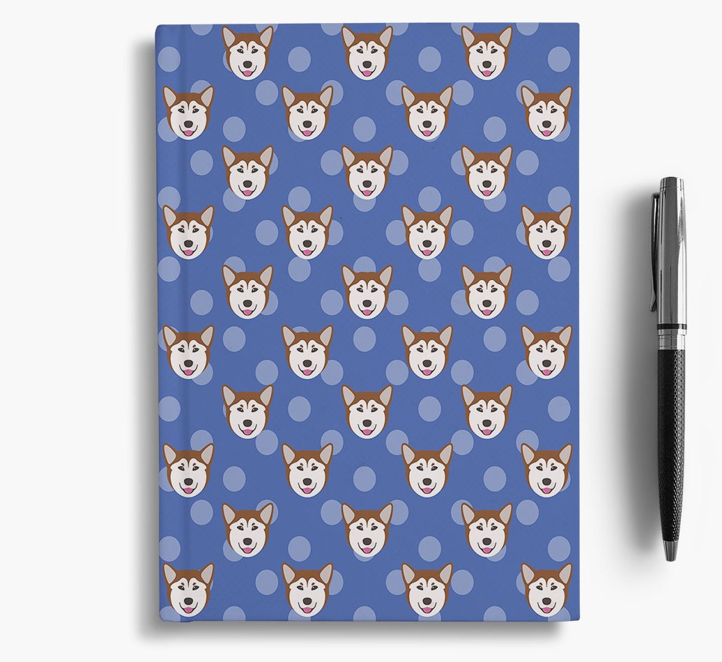 Rescue Dog Icon Pattern Notebook