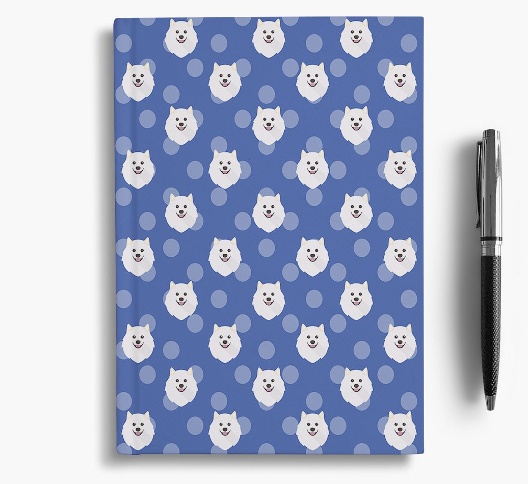 Samoyed Icon Pattern Notebook