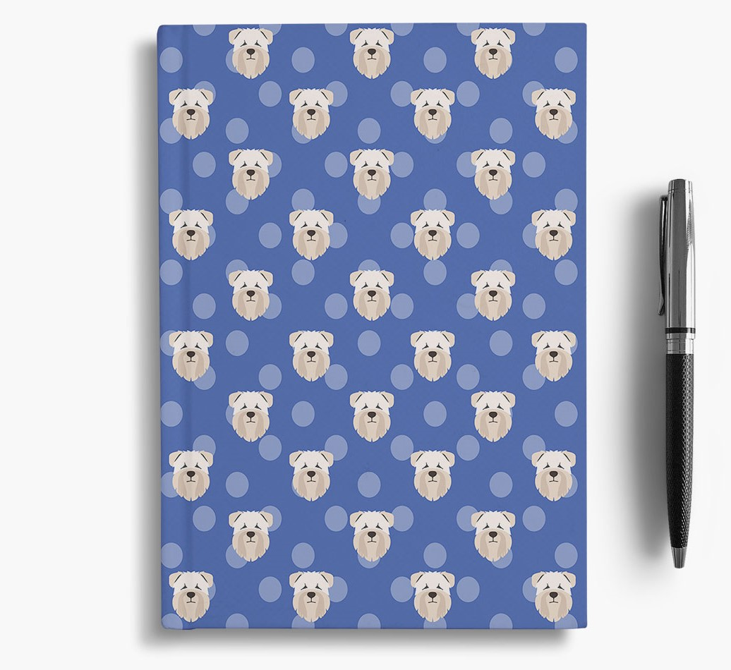 Soft Coated Wheaten Terrier Icon Pattern Notebook