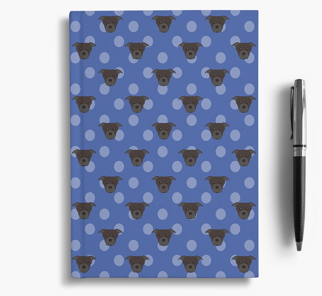 Staffordshire Bull Terrier Icon Pattern Notebook