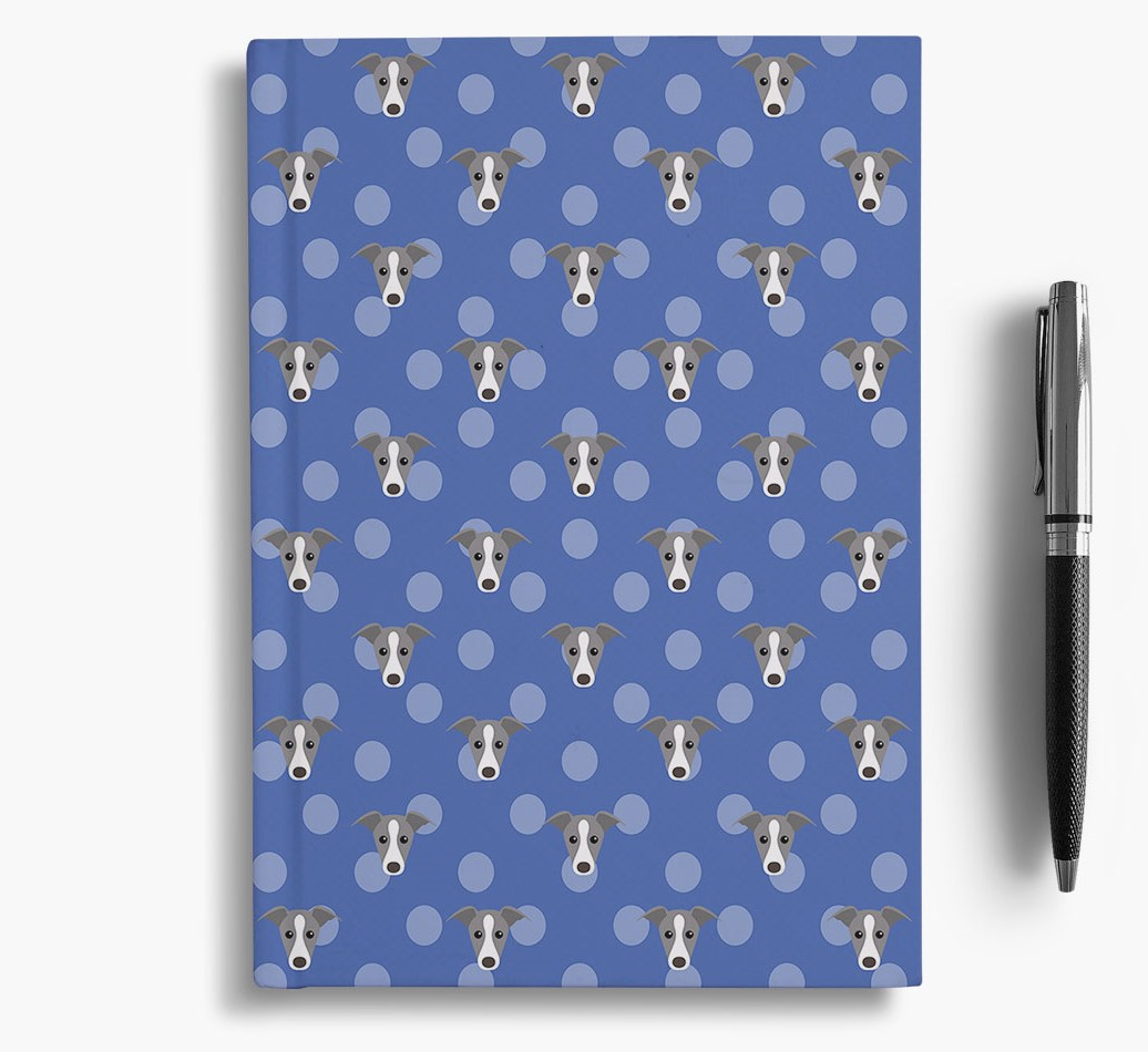 Whippet Icon Pattern Notebook