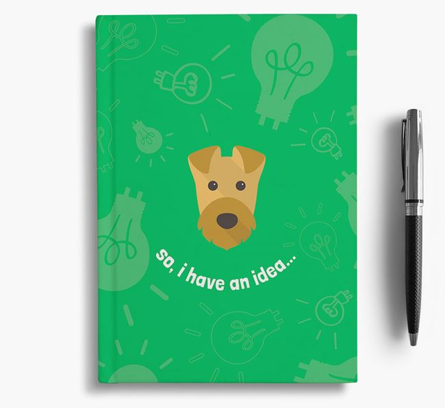 'So, I Have An Idea...' Notebook with Airedale Terrier Icon
