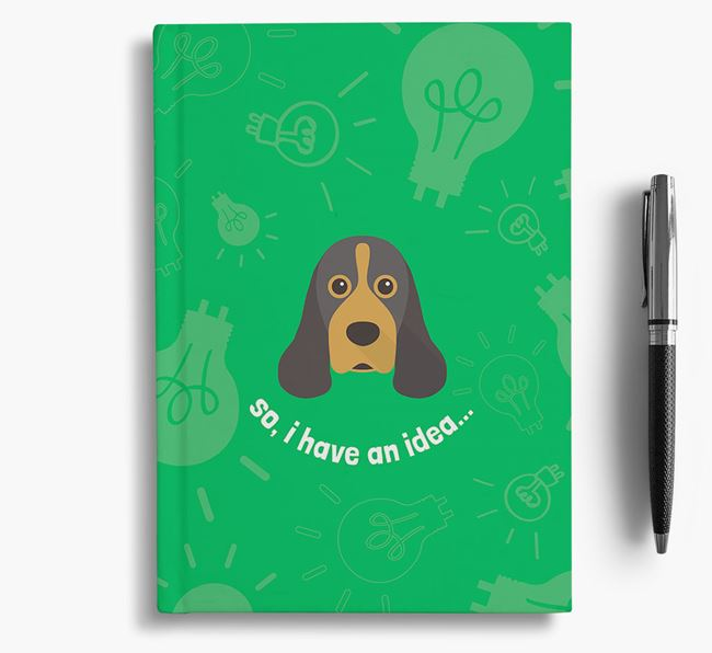 'So, I Have An Idea...' Notebook with American Cocker Spaniel Icon