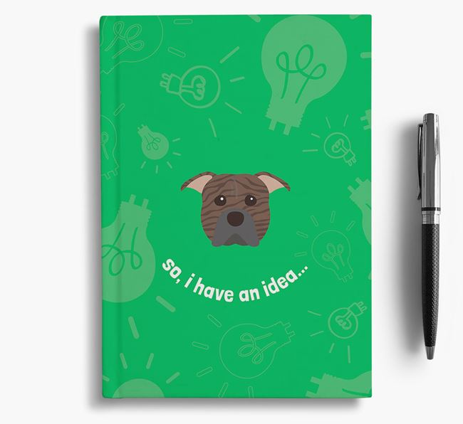 'So, I Have An Idea...' Notebook with American Pit Bull Terrier Icon