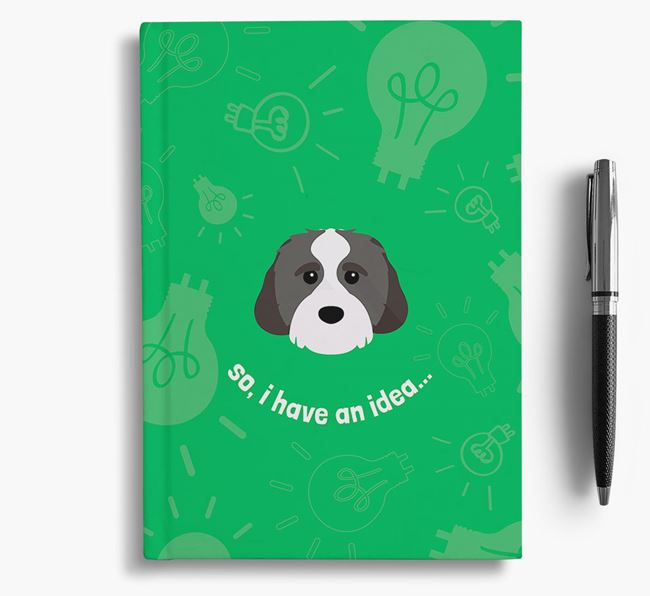 'So, I Have An Idea...' Notebook with Cavachon Icon