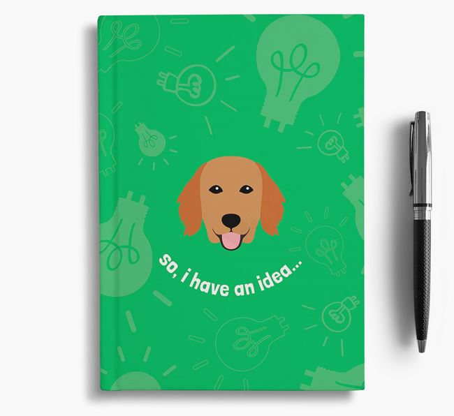 'So, I Have An Idea...' Notebook with Flat-Coated Retriever Icon