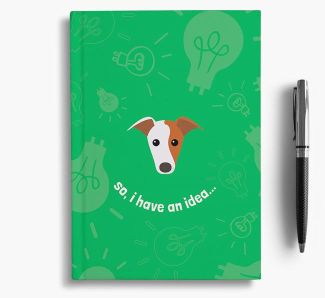 'So, I Have An Idea...' Notebook with Greyhound Icon