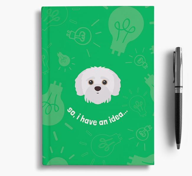 'So, I Have An Idea...' Notebook with Jack-A-Poo Icon