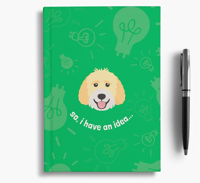 'So, I Have An Idea...' Notebook with Labradoodle Icon