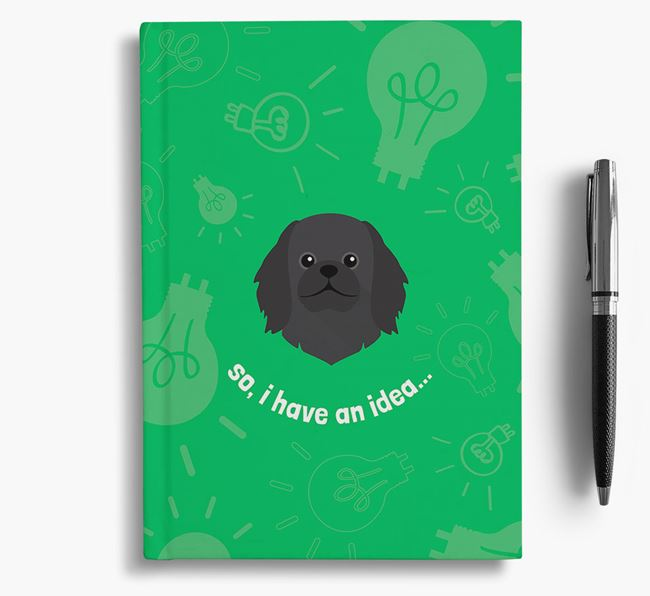 'So, I Have An Idea...' Notebook with Pekingese Icon