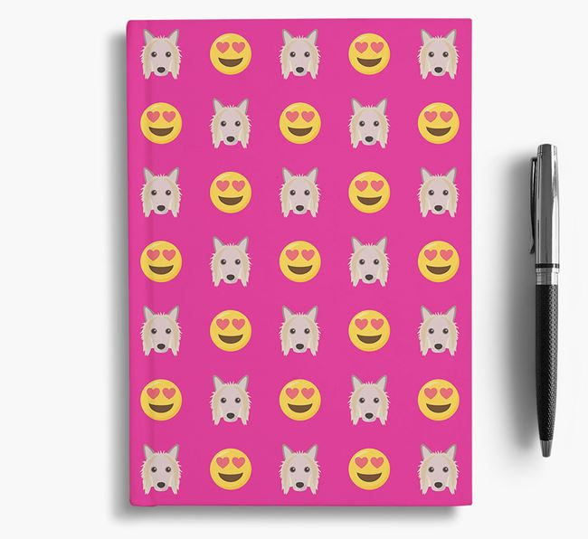 'Heart Eyes' Notebook with Hairless Chinese Crested Icon