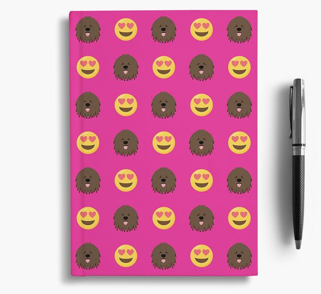 'Heart Eyes' Notebook with Hungarian Puli Icon