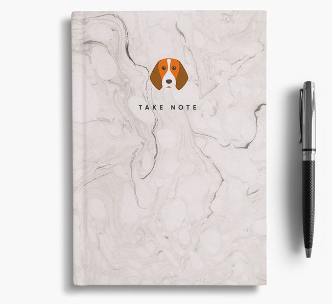 'Take Note' Marble Notebook with Beagle Icon