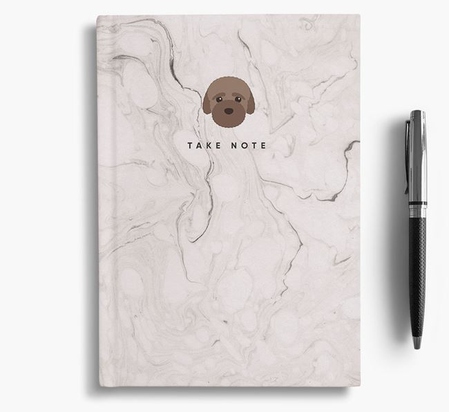 'Take Note' Marble Notebook with Bich-poo Icon
