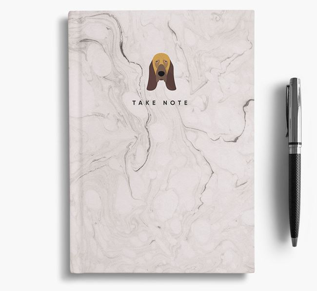 'Take Note' Marble Notebook with Bloodhound Icon
