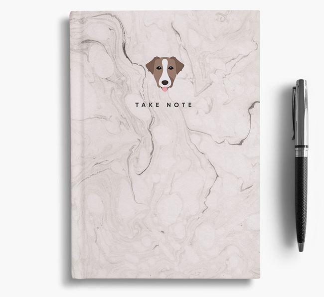 'Take Note' Marble Notebook with Borador Icon