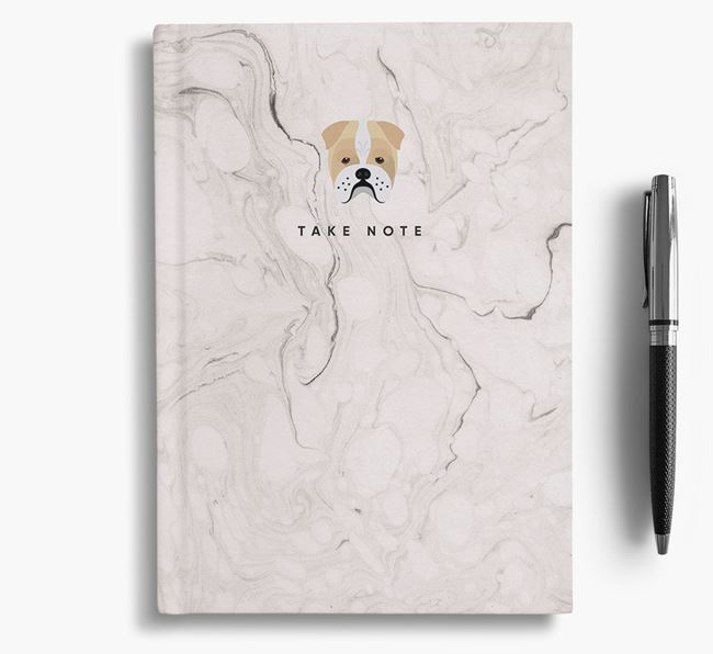 'Take Note' Marble Notebook with Bull Pei Icon