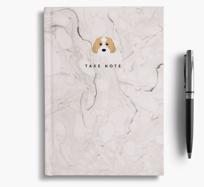 'Take Note' Marble Notebook with Cavachon Icon