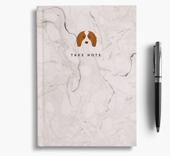 'Take Note' Marble Notebook with Cavapoo Icon