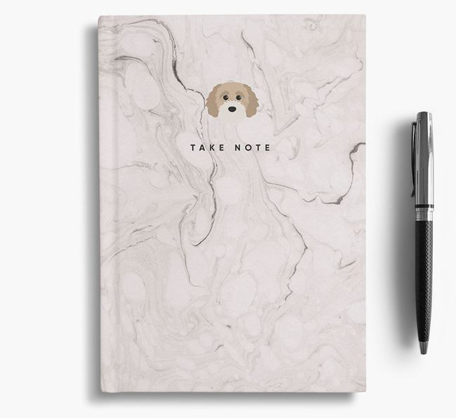 'Take Note' Marble Notebook with Cavapoochon Icon