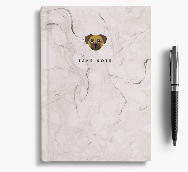 'Take Note' Marble Notebook with Chug Icon