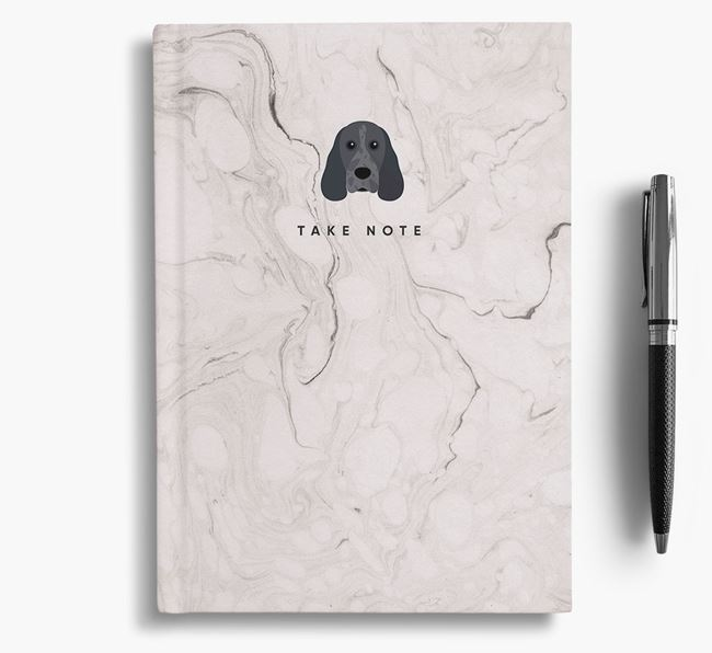 'Take Note' Marble Notebook with Cocker Spaniel Icon