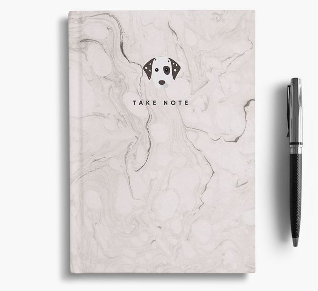'Take Note' Marble Notebook with Dog Icon