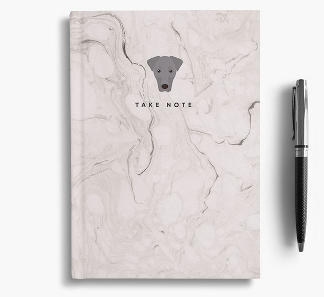 'Take Note' Marble Notebook with Dobermann Icon