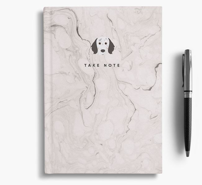 'Take Note' Marble Notebook with English Setter Icon