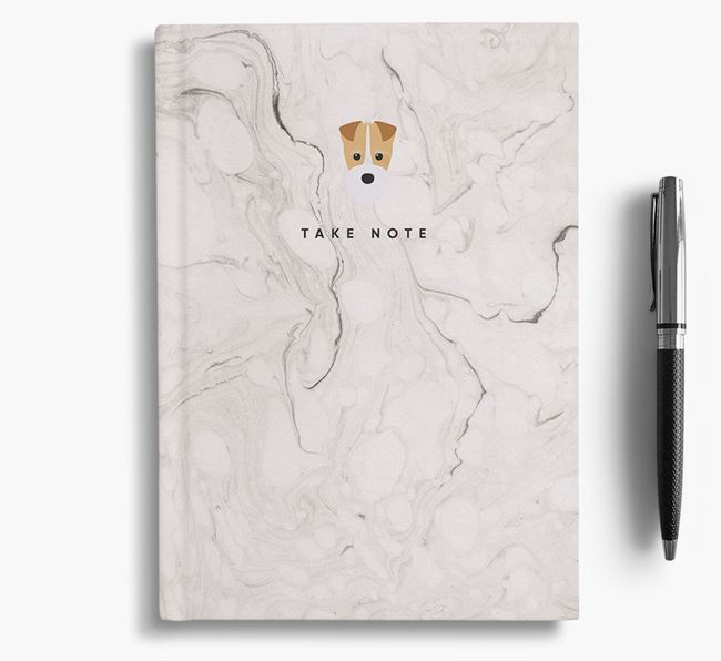 'Take Note' Marble Notebook with Fox Terrier Icon