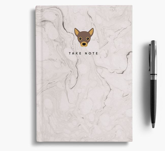 'Take Note' Marble Notebook with Jackahuahua Icon