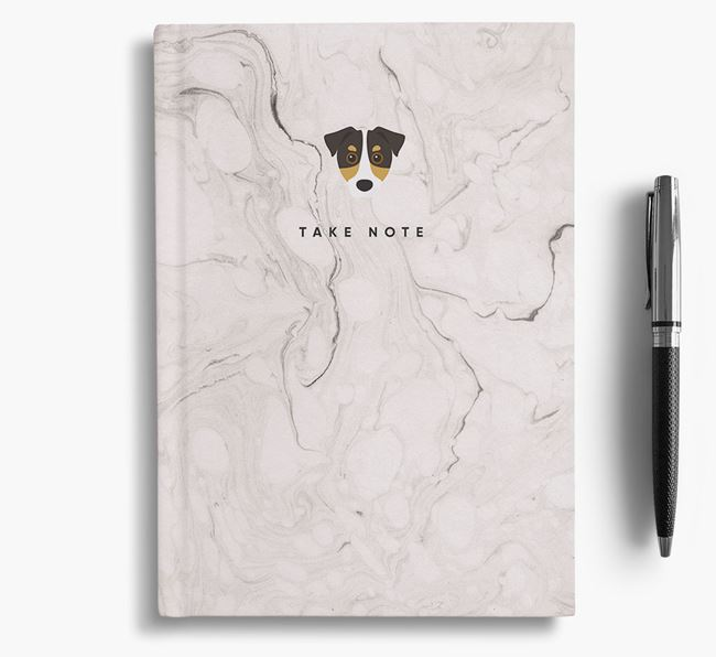 'Take Note' Marble Notebook with Jack Russell Terrier Icon