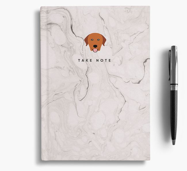 'Take Note' Marble Notebook with Labrador Retriever Icon