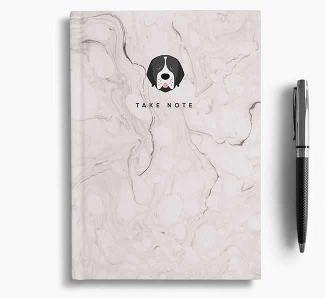 'Take Note' Marble Notebook with Newfoundland Icon