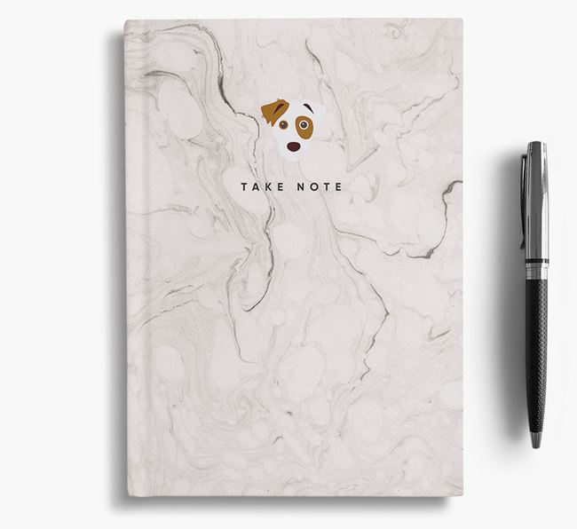 'Take Note' Marble Notebook with Parson Russell Terrier Icon