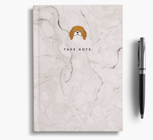 'Take Note' Marble Notebook with Pekingese Icon