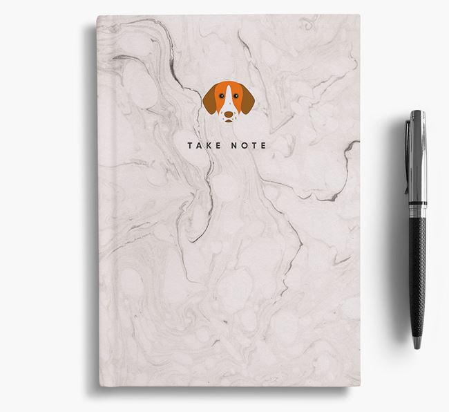'Take Note' Marble Notebook with Pointer Icon