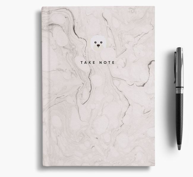 'Take Note' Marble Notebook with Shih Tzu Icon