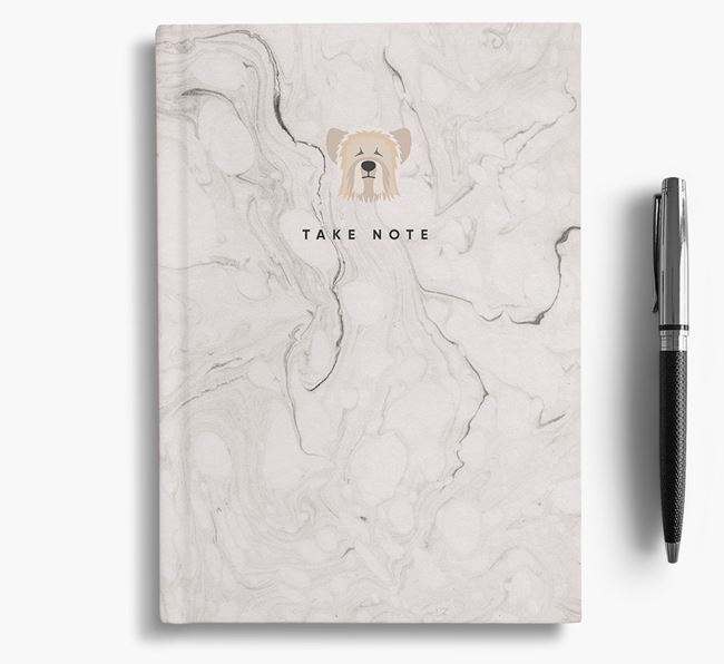 'Take Note' Marble Notebook with Skye Terrier Icon