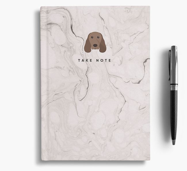 'Take Note' Marble Notebook with Springer Spaniel Icon