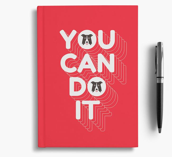 'You Can Do It' Notebook with Dog Icon