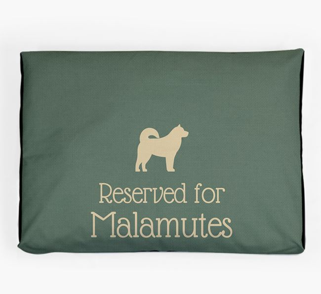 'Reserved For Malamute' Dog Bed for your Alaskan Malamute
