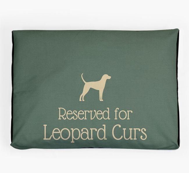 'Reserved For Leopard Cur' Dog Bed for your American Leopard Hound