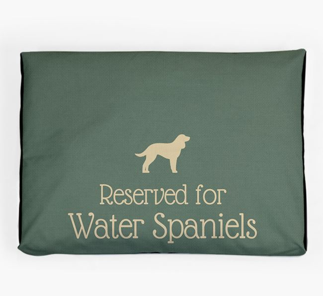 'Reserved For Water Spaniel' Dog Bed for your American Water Spaniel