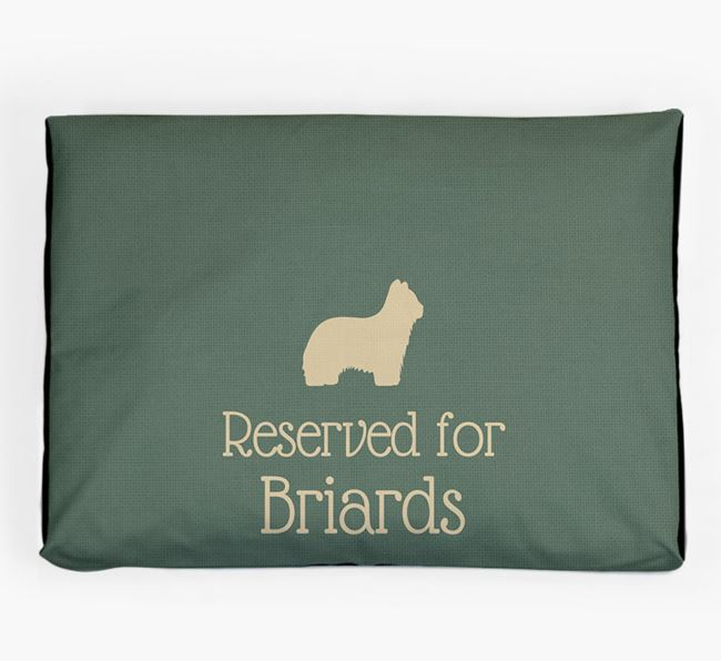'Reserved For Briard' Dog Bed for your Briard