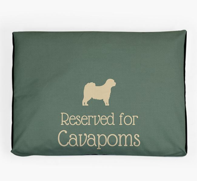 'Reserved For Cavapom' Dog Bed for your Cavapom