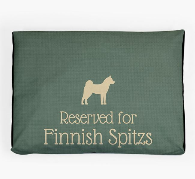 'Reserved For Finnish Spitz' Dog Bed for your Finnish Spitz