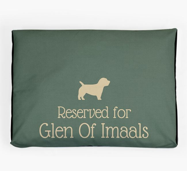 'Reserved For Glen Of Imaal' Dog Bed for your Glen Of Imaal Terrier
